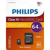 PH MicroSDXC + adapter 64GB class10, PHILIPS