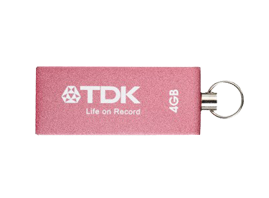 USB 4GB TDK Trans It Metal Pink*
